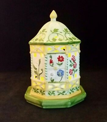 Villeroy Boch Candle Lamp Tea Light Holder LIGHTING FLOWERS Gazebo Ceramic 6.75""