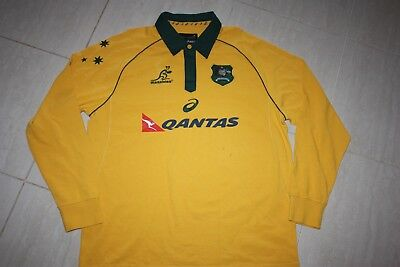 WALLABIES 2017 MEN'S TRADITIONAL LONG SLEEVE RUGBY JERSEY, 2XL, with defects