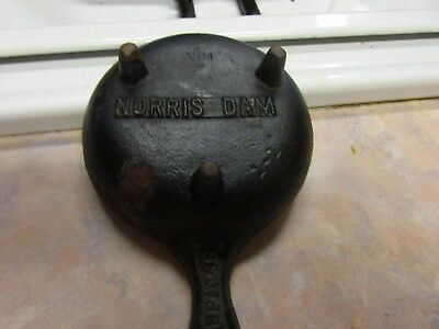 "Vintage V-M  Old Miniature Cast Iron Skillet With Legs  3""  Spoon Rest/ Ash Tray"