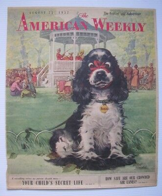 Scarce 1957 Butch Cocker Spaniel Cover for American Weekly by Albert Staehle Art
