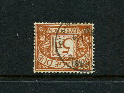 GB GREAT BRITAIN E2R ST.EDWARD sgd52wi INVERTED POSTAGE DUE EXTREMELY RARE