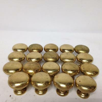 19 Piece Brass Dresser Drawer Handle Pull Furniture Hardware Knobs Vintage