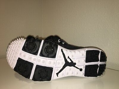 Nike Air Jordan Runner Golf Shoes Spikes Black Gray White SZ 8:5( 799863-010 )