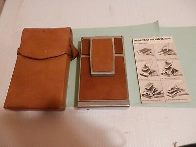 Vintage Polaroid SX-70 Land Camera -  Brown Leather