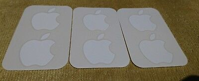 6x Genuine OEM Authentic White Apple Logo Brand New Decal FREE SHIPPING 2 CANADA