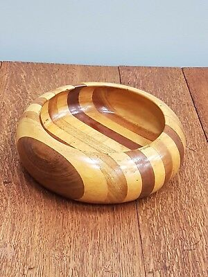 Decorative Mixed Wood Fruit Bowl