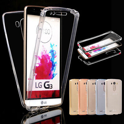 360° Shockproof Protective Transparent Silicone Case Cover For LG G3 G4 G5 G6