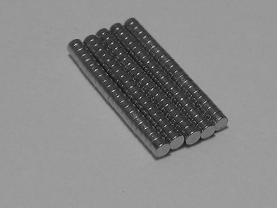 """100 1/16"""" by 1/32"""" (2mm x 1mm) Neodymium Disc Hobby, Home Magnets"""