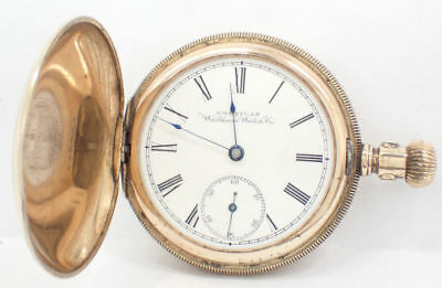 Antique Rose Gold Plated American Waltham Watch Co Pocket Watch - Working