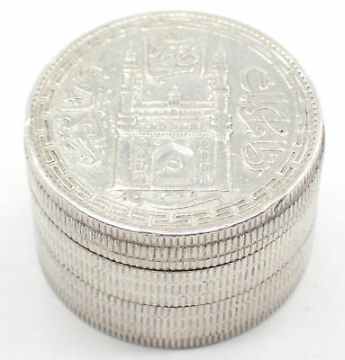 1329 Hyderbad India Silver Rupee Coins Made into Box