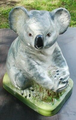 Rare Exquisite Stamped Wembley Ware Large Figurine Koala On Branch