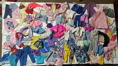 Huge Lot of Barbie, Ken and Baby clothing from 1980-1990