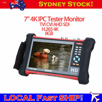 "SEESII 7"" 4K IPC Camera TVI CVI AHD Tester Monitor 1920x1200 HDMI Wifi AU Local"