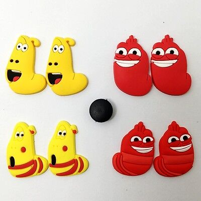 8pcs Yellow Red Bug Charms Fits For Jibbitz Clog Sandle Shoes /Wristband