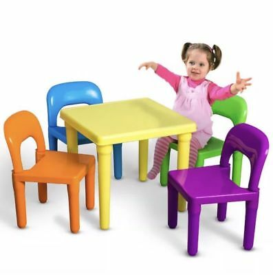 Kids Table and Chairs Play Set Toddler Child Toy Activity Furniture In-Outdoor A