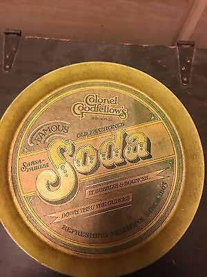 "Vintage 1979 COLONEL GOODFELLOWS SARSAPARILLA SODA 13"" Metal Tray"