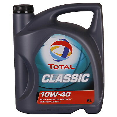 Total Classic 10W-40 5 Litres Jerrycans