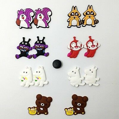 14pcs Bear Squirrel Fox Shoe Charms Fit Jibbit&Clog Wristbands kid's Gifts