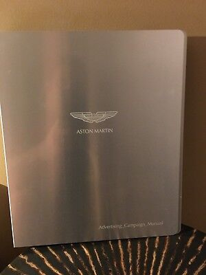Aston Martin Engraved Metal- 4 Ring  Folder  Awesome Condition VERY NICE & RARE