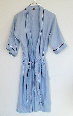 Montgomery Ward Vintage Mens Baby Blue Robe, One Size Fits All