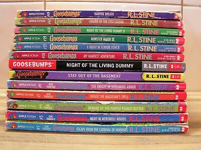 Collection of 13 x Goosebumps Children's Books By R.L. Stine, GC