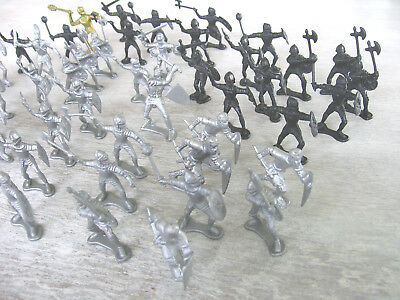49 pcs Knights Medieval Toy Shields Axes Hammers Swords Soldiers Figures Plastic