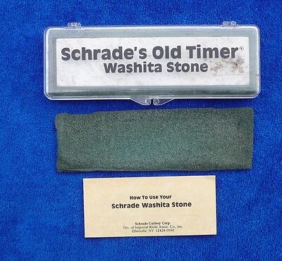 "Schrade-USA-Old Timer ""WASHITA STONE""-Knife Sharpening Stone"
