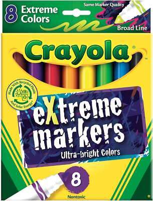 Crayola Broad Line Markers Extreme Colors 8/Pkg 071662081751