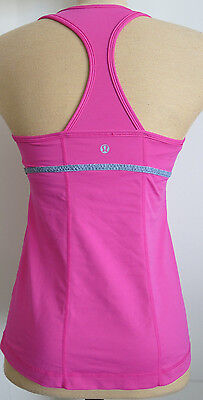 LULULEMON ATHLETICA Pink Gray Racerback Yoga Fitness Tank Top - Size 8