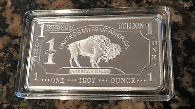 1 OZ 100 MILLLS .999 Fine SILVER Clad Buffalo Bar Fine Bullion SALE