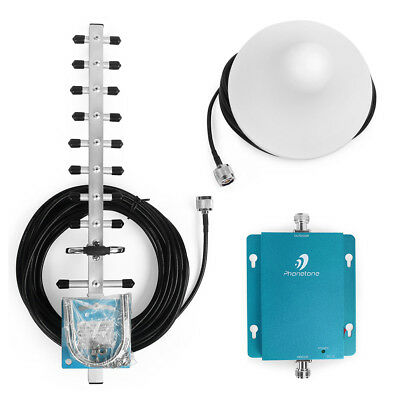 2100MHz 62dB 3G Mobile Phone Signal Booster Repeater Amplifier with Yagi Antenna