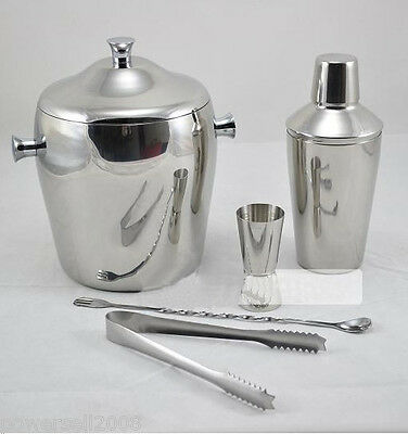 Simplicity 600 ML Stainless Steel Martini Shaker Bartender Tools Kit 5 Pcs