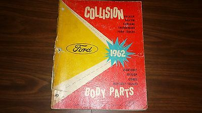 Vintage 1962 Ford Collision Body Parts Catalog 164 Pages Mercury Meteor Fairlane