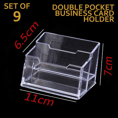 LOTS 9x New Business Card Holder Acrylic Display Stand Clear FREE SHIPPING