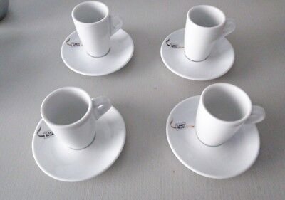 Lot ensemble 4 tasses à cafe expresso CARTE NOIRE + SOUCOUPES
