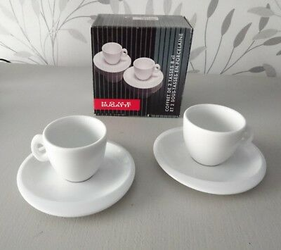 Lot 2 tasses à cafe expresso + soucoupes BUGATTI HOME EN COFFRET NEUVES !!!