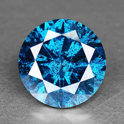 Blue Diamond Round 0.83 cts Loose Diamond Fancy Natural F721