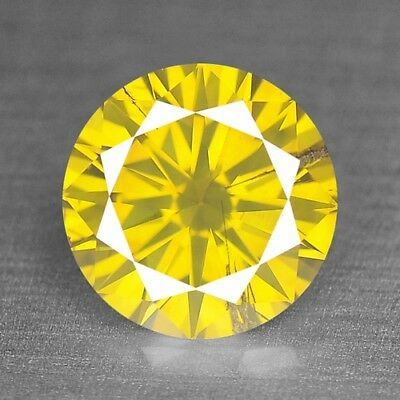 Fancy Yellow Diamond Pear 0.51 cts Loose Diamond Fancy Natural F653