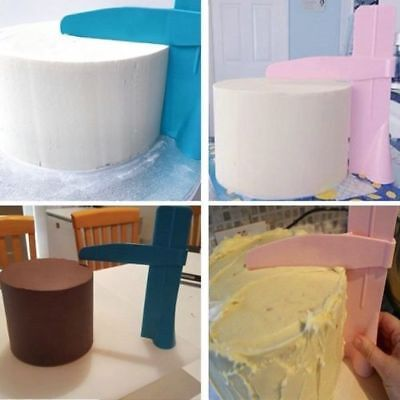 2x Adjustable Fondant Cake Scraper Icing Piping Cream Edges Smoother