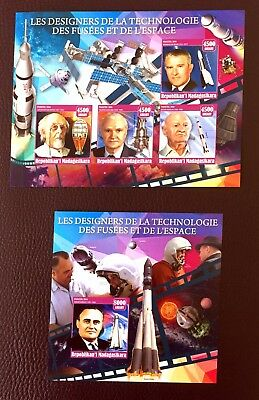 2 Madagascar Sheet Imperforated With Space And Iss