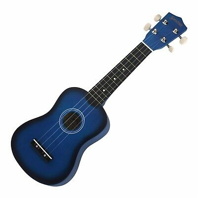NEW Sanchez Soprano Ukulele 4 String Beginner Kids Uke (Blue)