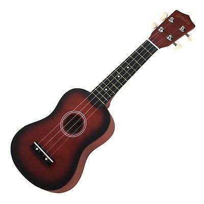 NEW Sanchez Soprano Ukulele 4 String Beginner Kids Uke (Wine Red)