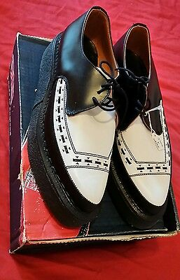 George Cox Creepers Black and White size 8