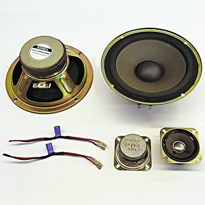 2x tweeters & 2x 6inch Speakers PA Hifi DIY Replacement crossover papercone pair