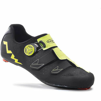 Northwave Phantom Carbon Road Shoes EU 45/ UK 11 BLACK/FLUO YELLOW