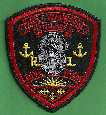 West Warwick Rhode Island Police Dive Rescue Team Patch