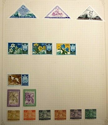 Group Lot Of Old Stamps, 15 Different, San Marino All Mint