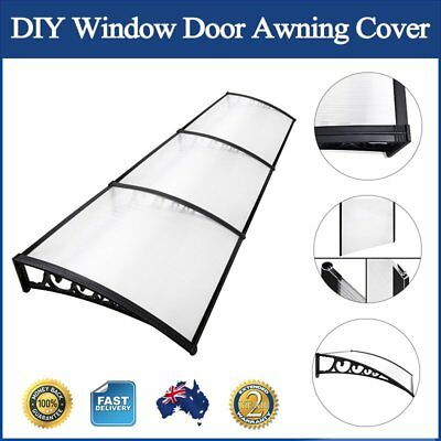 DIY Window Door Awning Cover Transparent Door Canopy Balcony Cover 100 x 300cm