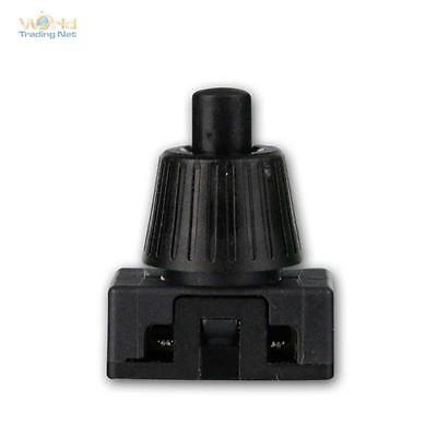 Set of 5 Press Button Black, 1-polig On/switching off, max. 230V/2A Switch