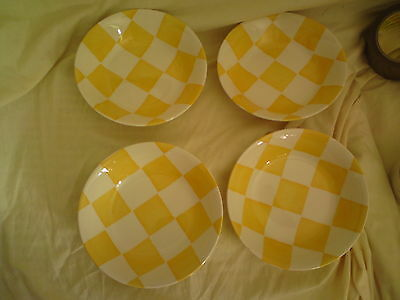 "4 X Royal Stafford Painterly Affects ~ Chequers ~ 6 3/4"" Cereal/dessert Bowl"